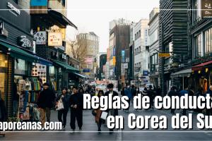 10 Reglas de conducta de Corea del Sur