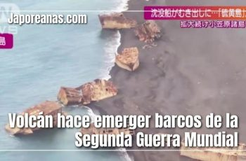 Volcán hace emerger barcos
